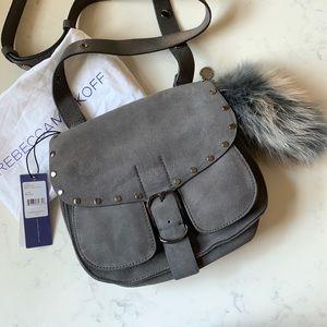 Rebecca Minkoff Suede Saddle Bag w/ Fox Tail Charm